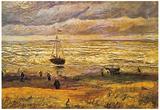 Vincent Van Gogh View of the Sea at Scheveningen Art Print Poster Stampe