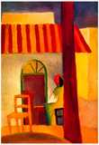 August Macke Turkish Cafe Art Print Poster Plakater