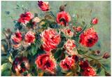 Pierre Auguste Renoir Still Life Roses of Vargemont Art Print Poster Posters