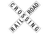 Railroad Crossing Crossbuck Traffic Print Poster Print