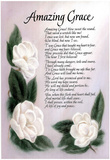 Amazing Grace (Lyrics) Art Print Poster Poster