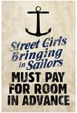 Street Girls Bringing in Sailors Art Poster Print Láminas