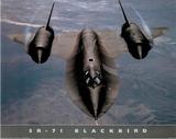 SR-71 Blackbird (In Air) Art Poster Print Plakater