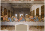 Leonardo Da Vinci (The Last Supper) Art Poster Print  Art Poster Print Photo