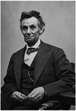 Abraham Lincoln Seated by Alexander Gardner Archival Photo Poster Print Plakater
