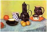 Vincent Van Gogh Still Life Blue Enamel Coffeepot Earthenware and Fruit Art Print Poster Photo