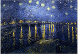 Vincent Van Gogh (Starry Night Over the Rhone) Starlight Art Poster Print Foto