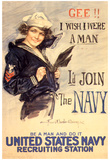 U.S. Navy I'd Join the Navy WWII Propaganda Vintage Poster Photo