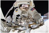 NASA Astronaut Greg Chamitoff at International Space Station Photo Poster Poster