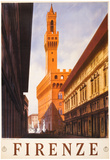 Firenze Italy Travel Vintage Ad Poster Print アートポスター