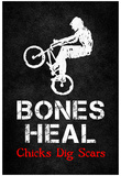 Bones Heal Chicks Dig Scars BMX Sports Poster Print Plakater