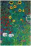 Gustav Klimt Garden with Crucifix 2 Detail Art Print Poster Prints