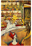 Georges Seurat (The circus) Art Poster Print Print