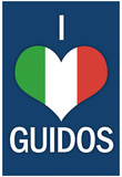 I Heart Italian Guidos Print Poster Posters