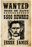 Jesse James Wanted Advertisement Print Poster Pósters