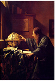 Johannes Vermeer The Astronomer Art Print Poster Posters