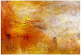 Joseph Mallord Turner Sun Setting over a Lake Art Print Poster Poster