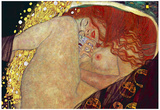 Gustav Klimt (Danae) Art Poster Print Photo
