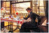 James Tissot Room with a Glance from the Port Art Print Poster Kunstdrucke