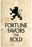 Fortune Favors the Bold Motivational Latin Proverb Poster Poster