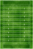 Football Field Gridiron Sports Poster Print Plakater