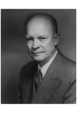 Dwight D. Eisenhower (Portrait) Art Poster Print Plakater