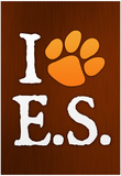 I Heart E.S. Paw-Print Music Poster Poster