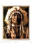 Edward S. Curtis Sitting Bear Arikara Art Print POSTER Plakater