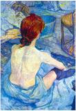 Henri de Toulouse-Lautrec Rousse the Toilet Art Print Poster Posters