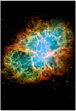 Crab Nebula Space Photo Art Poster Print Posters