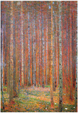 Gustav Klimt Fir Forest I Art Print Poster Foto