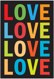 Love (Colorful 2) Art Poster Print Posters