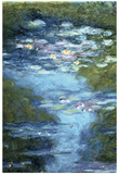 Claude Monet Water Lilies in Pond Art Print Poster Posters