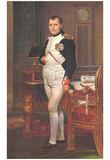 Jacques-Louis David (Portrait of Napoleon in his work room) Art Poster Print Plakat
