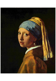 Jan Vermeer van Delft (The girl with the pearl) Art Poster Print Posters