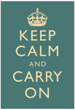 Keep Calm and Carry On Motivational Slate Art Print Poster ポスター