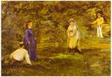 Edouard Manet Croquet Party Art Print Poster Poster
