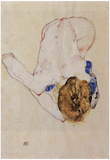 Egon Schiele (Forwards female nude) Art Poster Print Posters