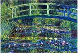 Claude Monet, vijver met waterlelies Print