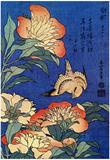 Katsushika Hokusai A Bird And Flowers Art Poster Print Plakater