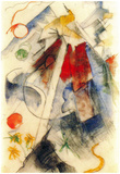 Franz Marc Sketch of the Brenner Road Art Print Poster Posters