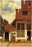 Johannes Vermeer The Little Street Art Print Poster Prints