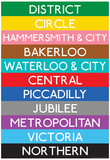 London Underground Tube Lines Travel Poster Kunstdrucke