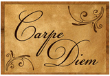 Carpe Diem Seize the Day Wood Carving Poster Pósters