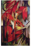 Franz Marc (Red Foxes) Art Poster Print Print