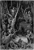 "Gustave Doré (Illustration to Dante's ""Divine Comedy,"" Inferno - Suicides) Art Poster Print Poster"