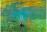 Claude Monet Impression Sunrise Art Print Poster Pôsters