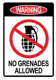 Jersey Shore No Grenades Allowed Sign TV Poster Print Photographie