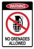 Jersey Shore No Grenades Allowed Sign TV Poster Print Bilder