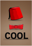 Fez and Bowtie Cool Poster Julisteet